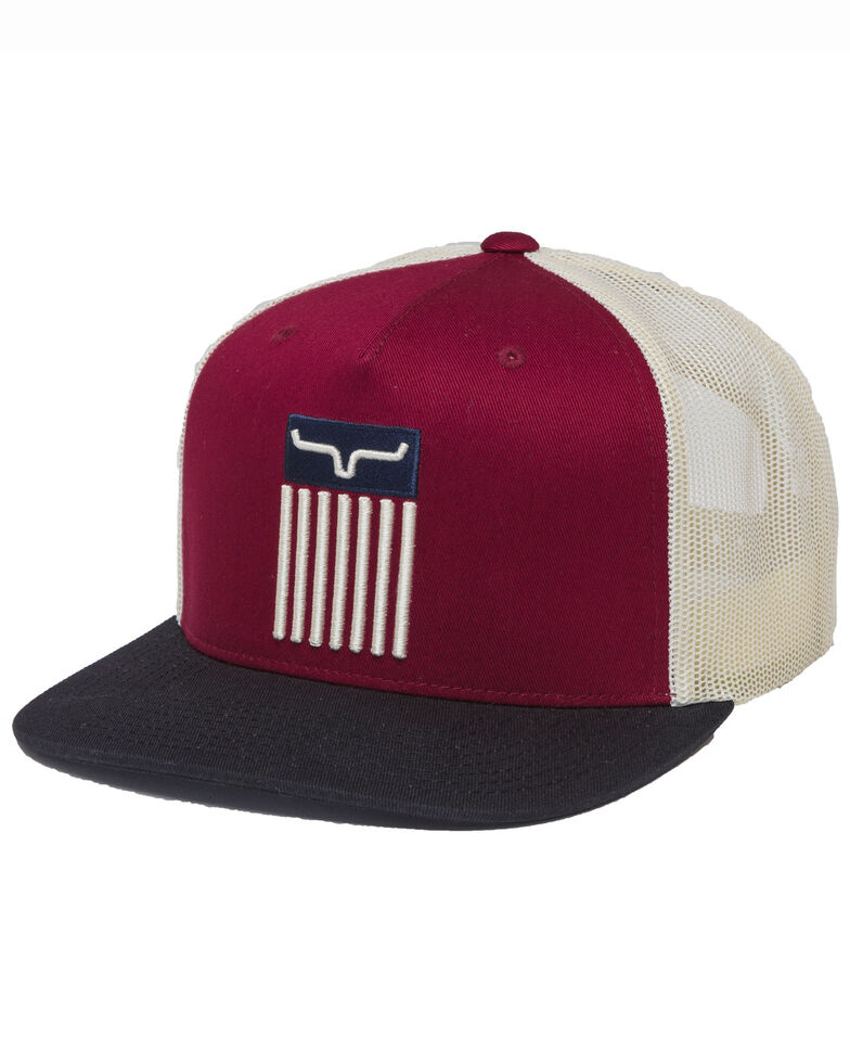 Kimes Ranch Burgundy Cody Twill Mesh Ball Cap , Burgundy, hi-res