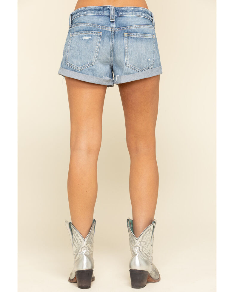 Free People Women's Romeo Rolled Cut Off Shorts, Blue, hi-res