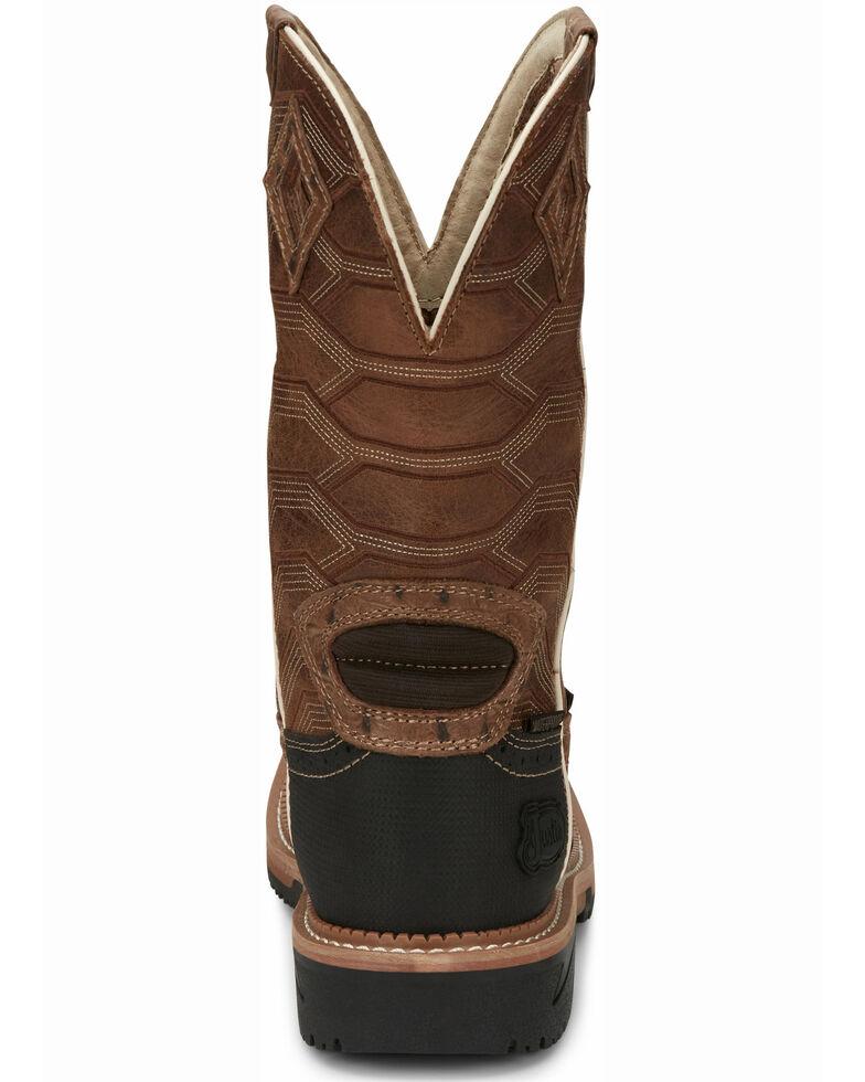 Justin Men's Derrickman Western Work Boots - Composite Toe, Camel, hi-res