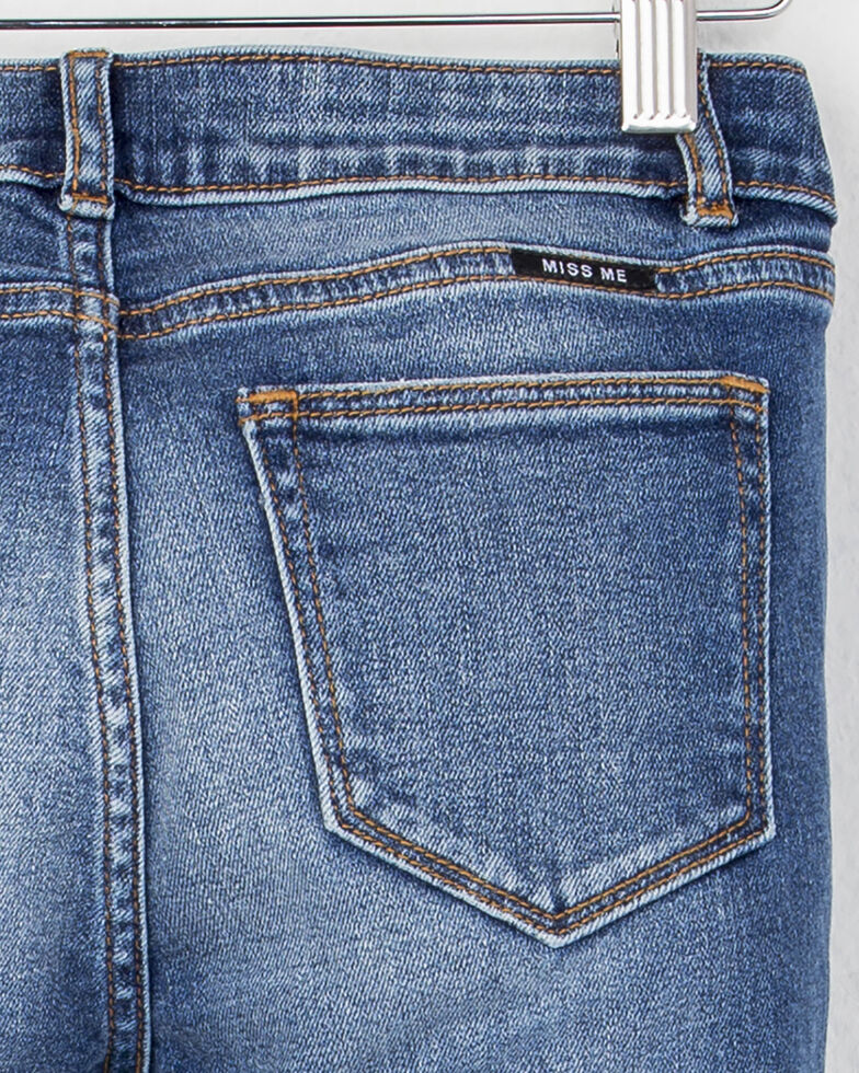 MIss Me Girls' (7-14) Crop Hem Bootcut Jeans , Indigo, hi-res