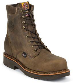 "Justin Men's J-Max 8"" Blueprint Bay Apache Lace-Up EH Work Boots - Composite Toe, Crazyhorse, hi-res"