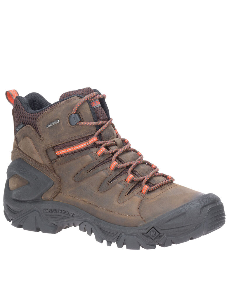 Merrell Men's Strongbound Peak Hiking Boots - Soft Toe, Brown, hi-res