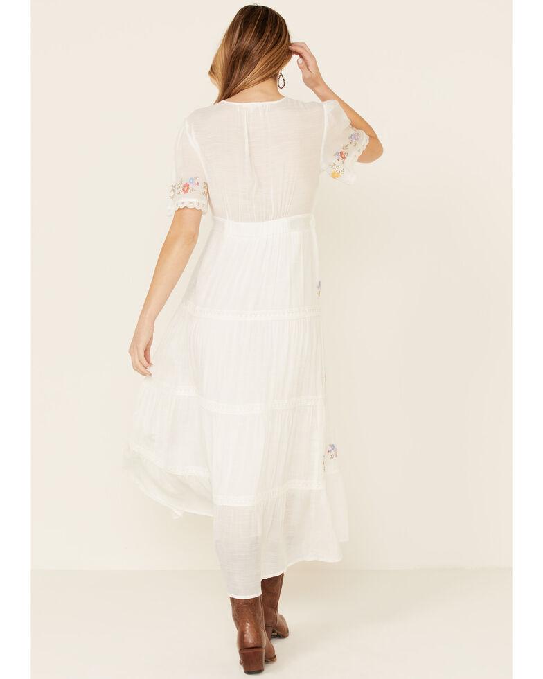 Polagram Women's White Tiered Maxi Dress, White, hi-res