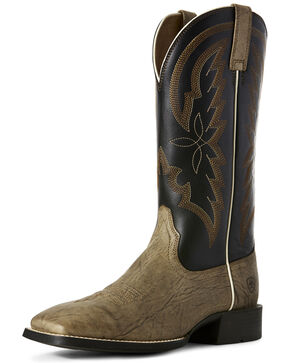 Ariat Men's Heritage Brushpopper Western Boots - Square Toe, Brown, hi-res