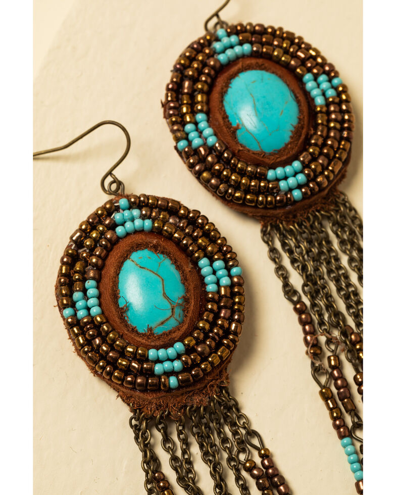 Idyllwind Women's Picture This Turquoise Beaded Earrings, Brown, hi-res