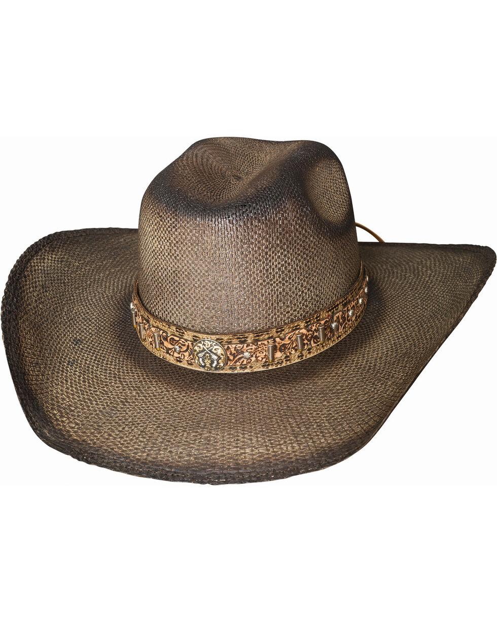 Bullhide Men's Unshucked Gun Straw Western Hat , Pecan, hi-res