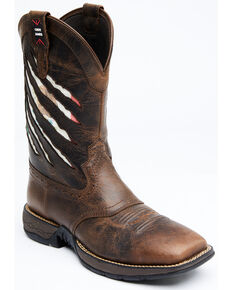 Cody James Men's Xero Gravity Lite Mexican Flag Western Boots - Wide Square Toe, Brown, hi-res