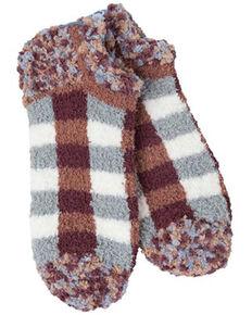 World's Softest Women's Woods Plaid Ankle Socks, Multi, hi-res