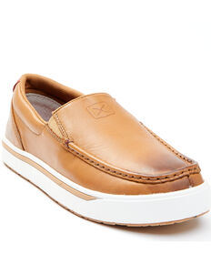 Twisted X Men's Brown Slip-On Casual Sneakers - Moc Toe, Brown, hi-res