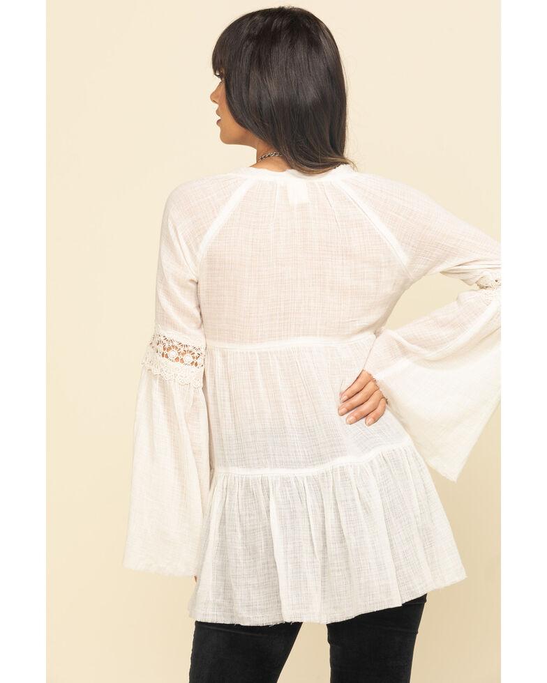White Crow Women's Ivory Maya Tunic Top, Ivory, hi-res