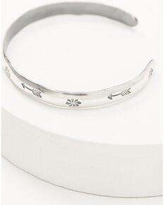Broken Arrow Women's Stamped Cuff Bracelet, Silver, hi-res