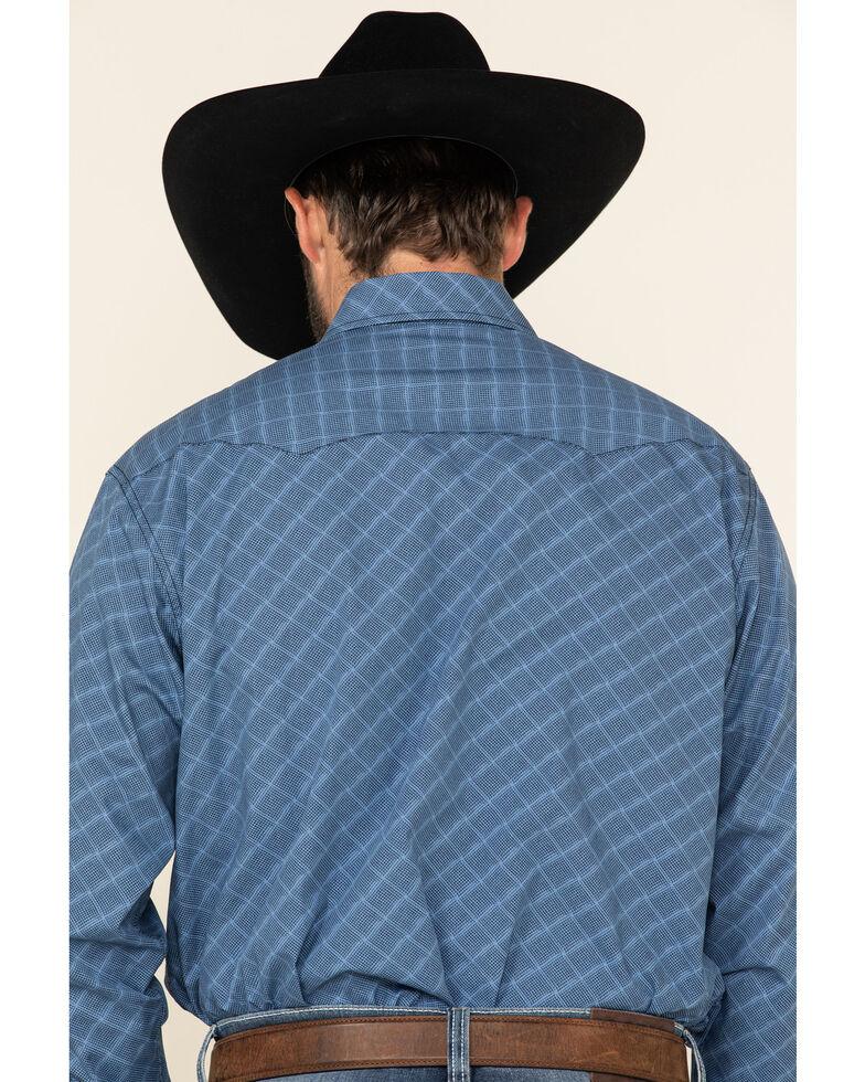 Cinch Men's Blue Small Geo Print Snap Long Sleeve Western Shirt , Blue, hi-res