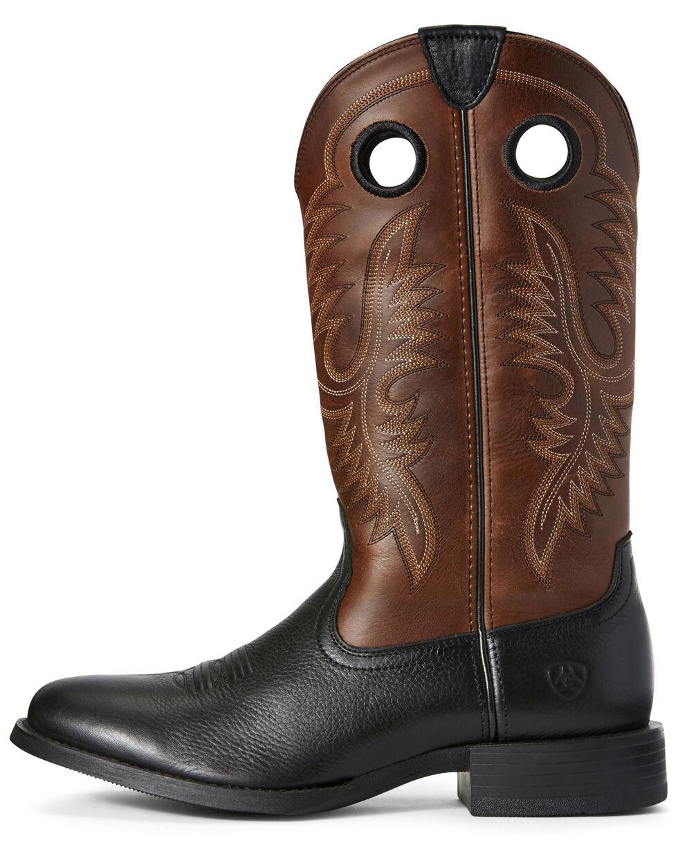 Ariat Men's Big Hoss Western Boots - Round Toe, Black, hi-res