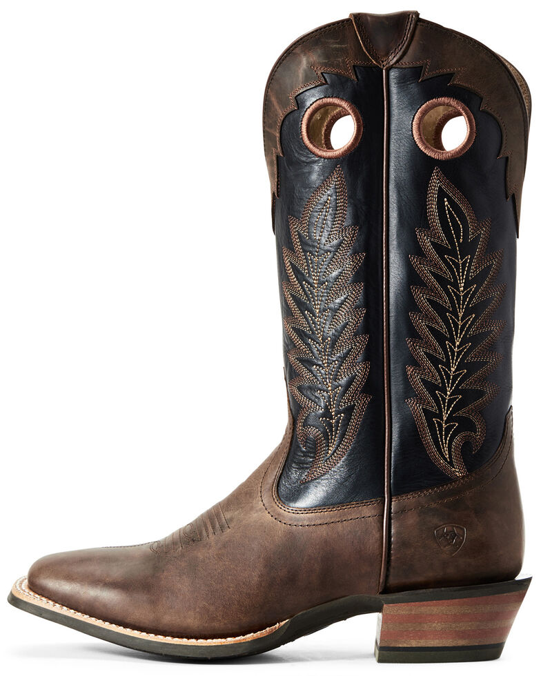 Ariat Men's Whiskey Real Deal Western Boots - Wide Square Toe, Brown, hi-res