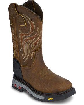 Justin Men's Driscoll Mahogany EH Waterproof Work Boots - Soft Toe, Brown, hi-res