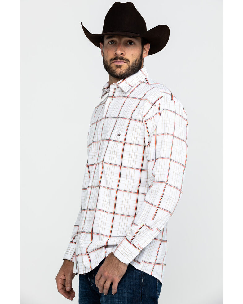 Resistol Men's Cervenka Large Plaid Long Sleeve Western Shirt , White, hi-res