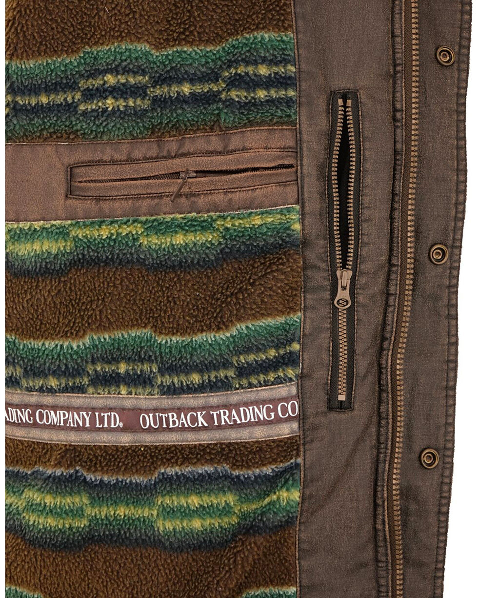Outback Trading Co. Men's Brown Galen Canyonland Jacket , Brown, hi-res