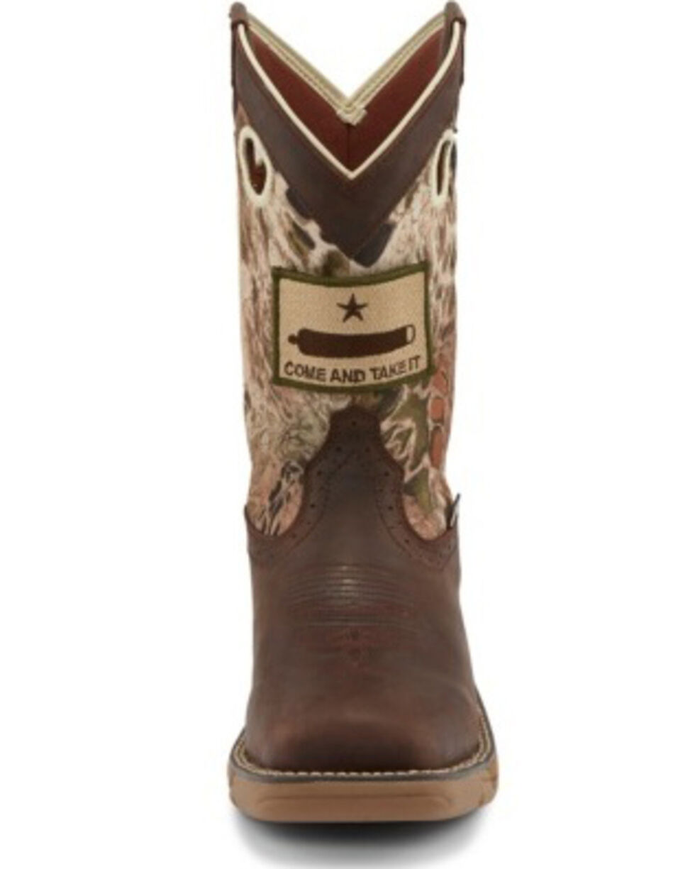 Justin Men's Stampede Rush Grizzly Brown Western Work Boots - Soft Toe, Brown, hi-res