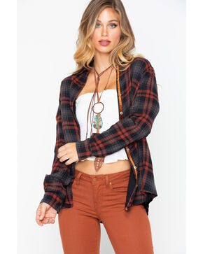 Johnny Was Women's Artemis Plaid Velvet Embroidered Shirt , Multi, hi-res
