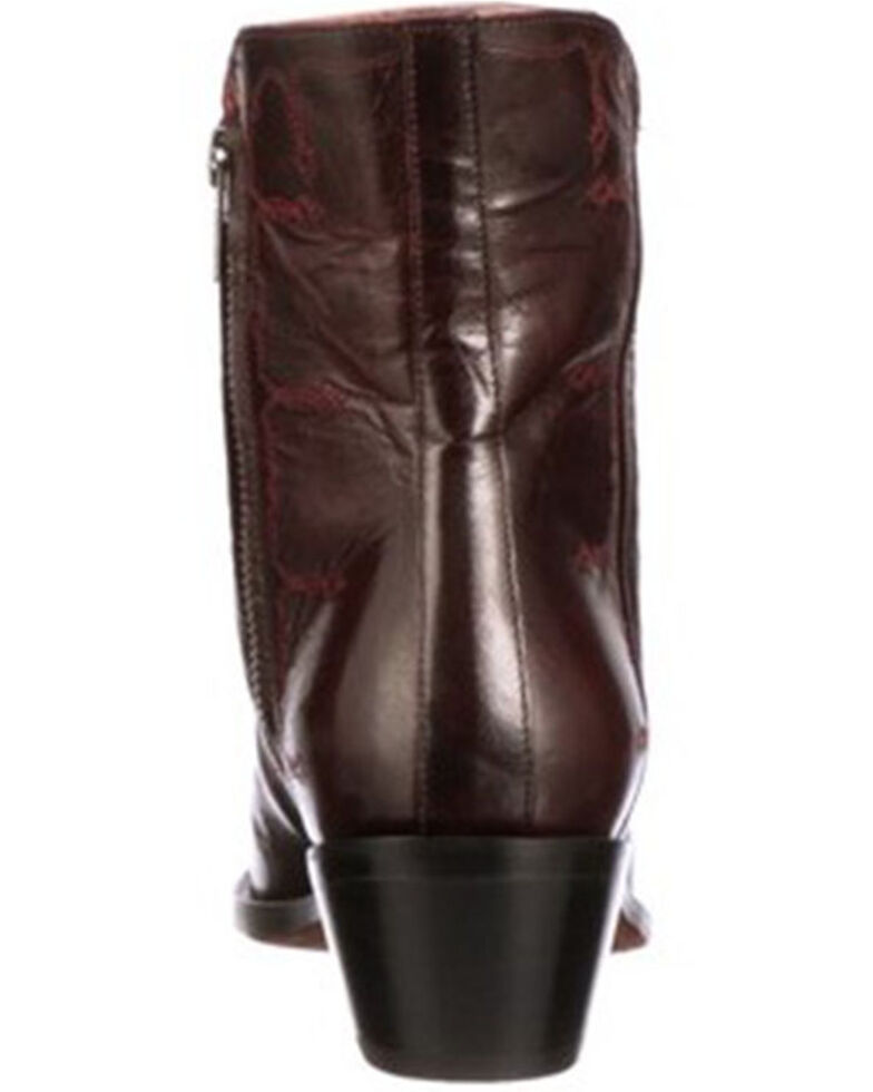 Lucchese Women's Avie Stud Fashion Booties - Round Toe, Black Cherry, hi-res