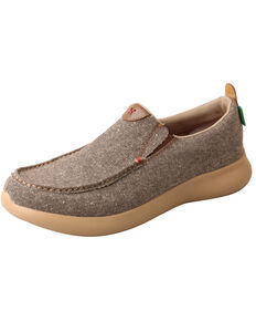 Twisted X Men's Dust Slip-On Shoes - Moc Toe, Lt Brown, hi-res