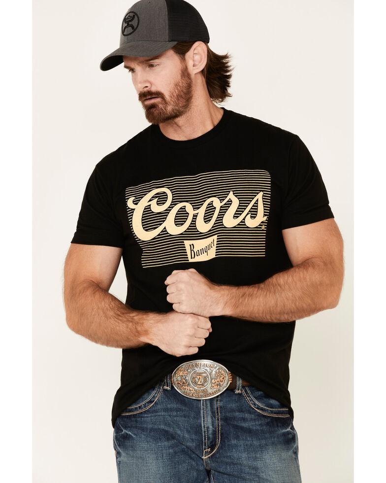 Brew City Beer Gear Men's Black Vintage Coors Graphic T-Shirt , Black, hi-res
