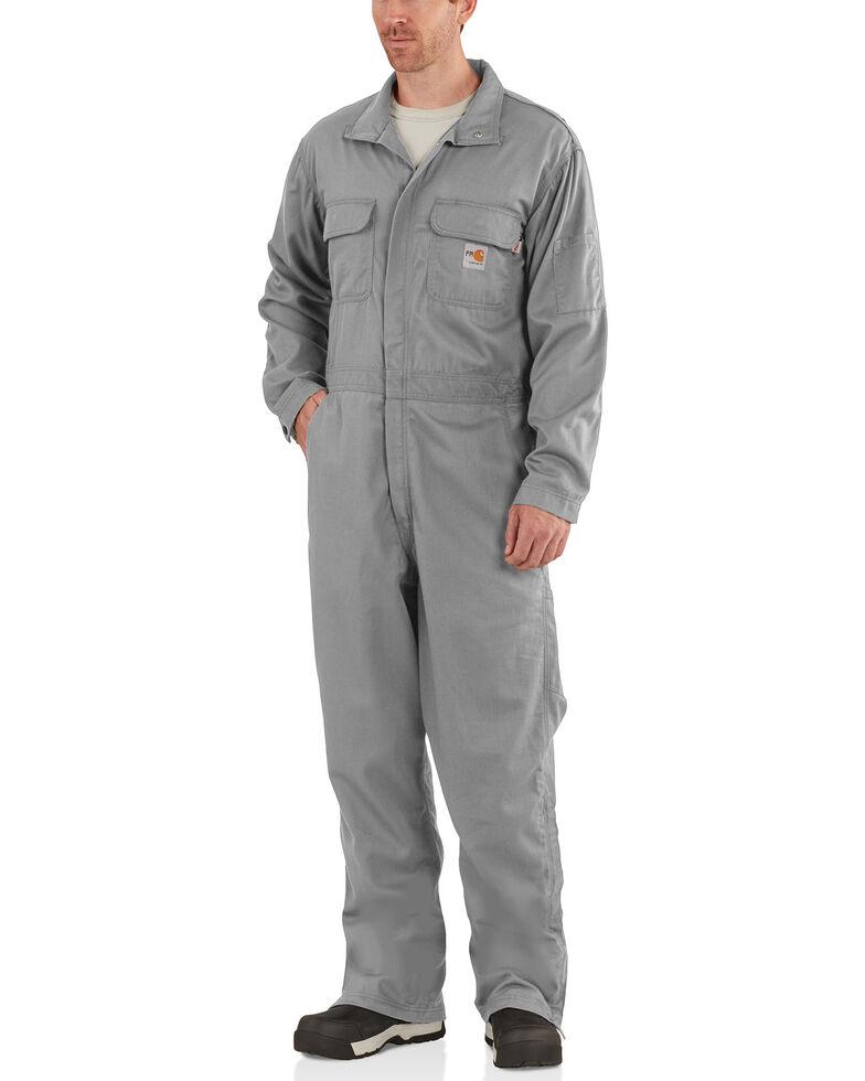 Carhartt Men's Flame-Resistant Deluxe Coveralls - Big & Tall, Grey, hi-res