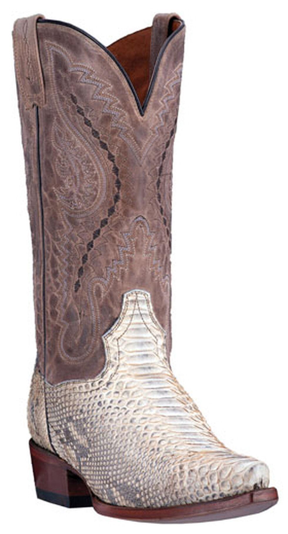 Dan Post Python Orlando Cowboy Boots - Snip Toe , Natural, hi-res
