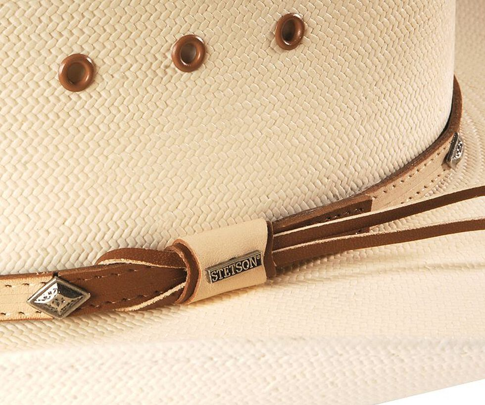 Stetson 10X Grant Straw Cowboy Hat, Natural, hi-res