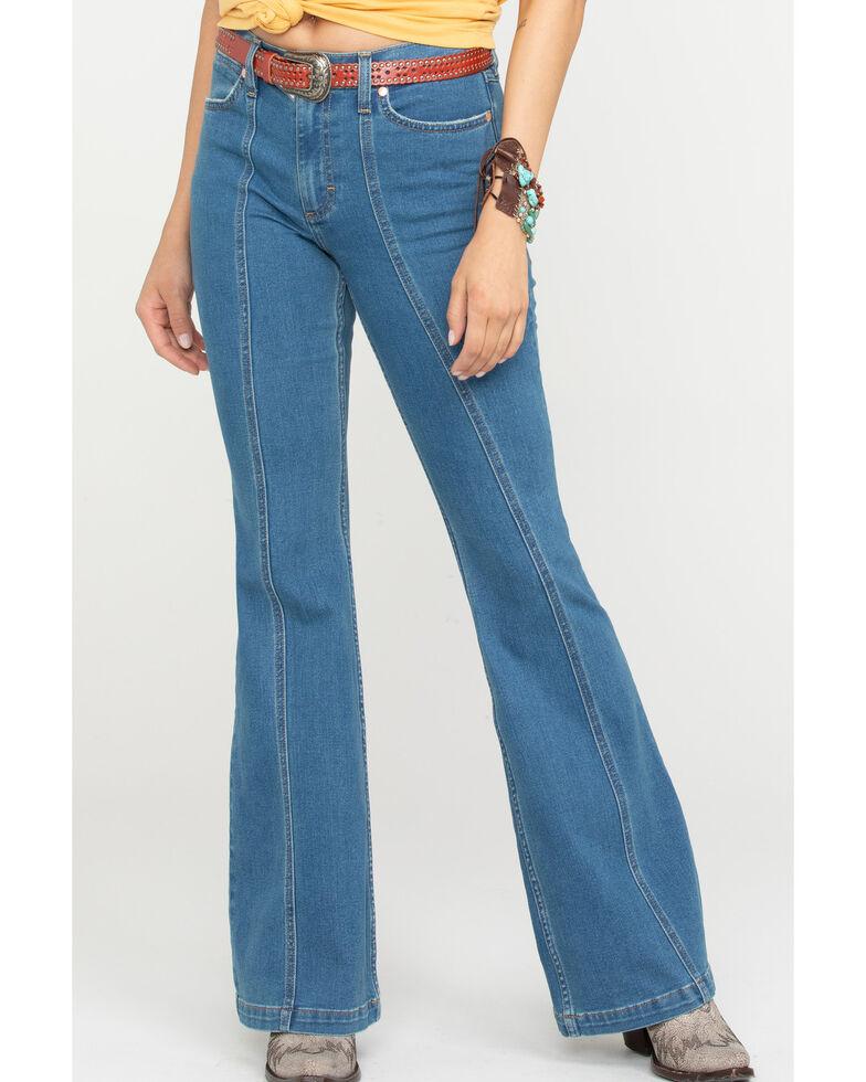 Wrangler Modern Women's Classic Seamed Flare Jeans, Blue, hi-res
