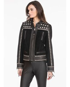 Double D Ranch Women's Little Joe Jacket , Black, hi-res
