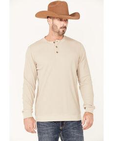 Cody James Men's Solid Cream Wander Long Sleeve Henley Shirt , Cream, hi-res