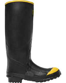 LaCrosse Men's Premium Knee Work Boots - Steel Toe , Black, hi-res