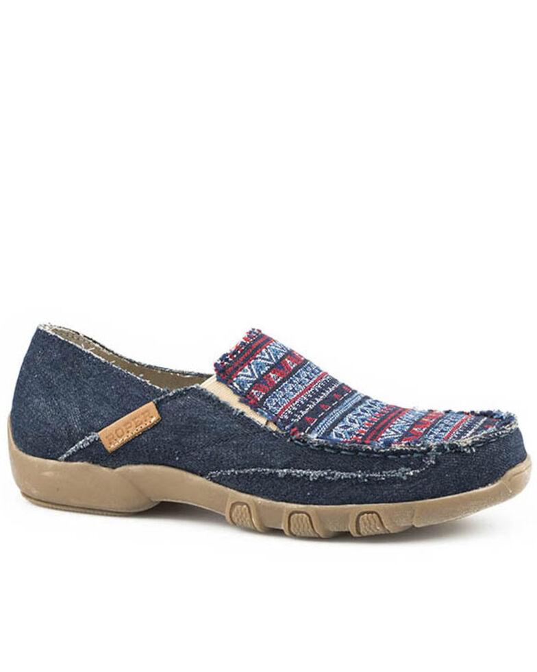 Roper Women's Sabra Casual Shoes - Moc Toe, Blue, hi-res