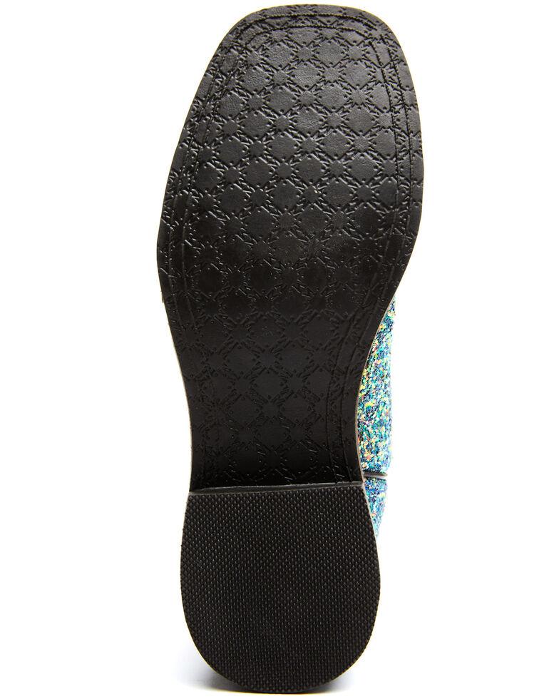 Shyanne Girls' Glitterama Western Boots - Wide Square Toe, Brown, hi-res