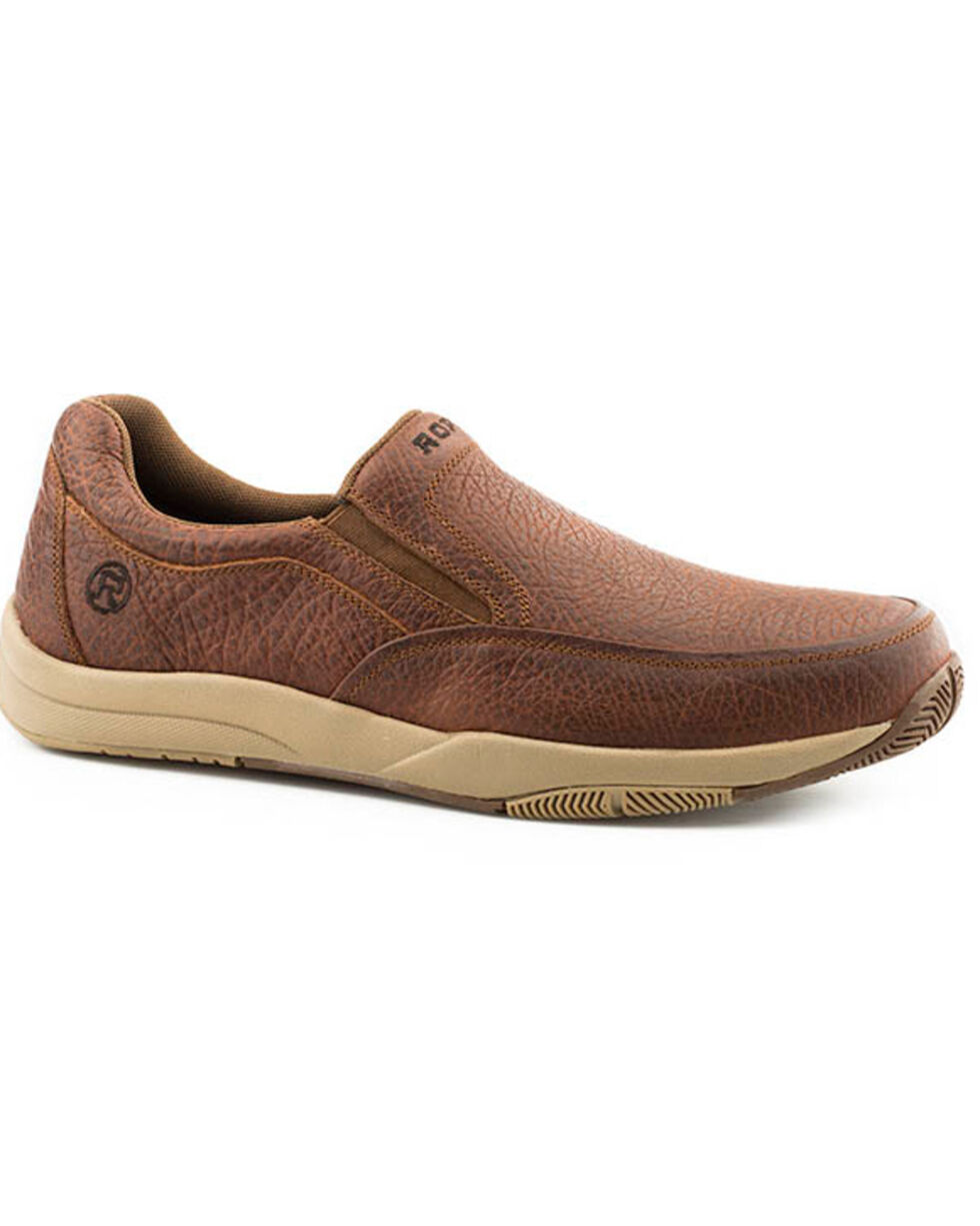 Roper Men's Docks Slip-On Shoes - Round Toe, Tan, hi-res