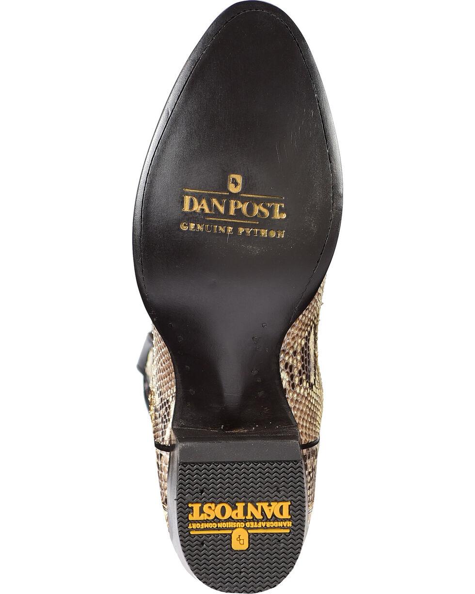 Dan Post Men's Natural Belly Cut Python Cowboy Boots - Medium Toe, Natural, hi-res