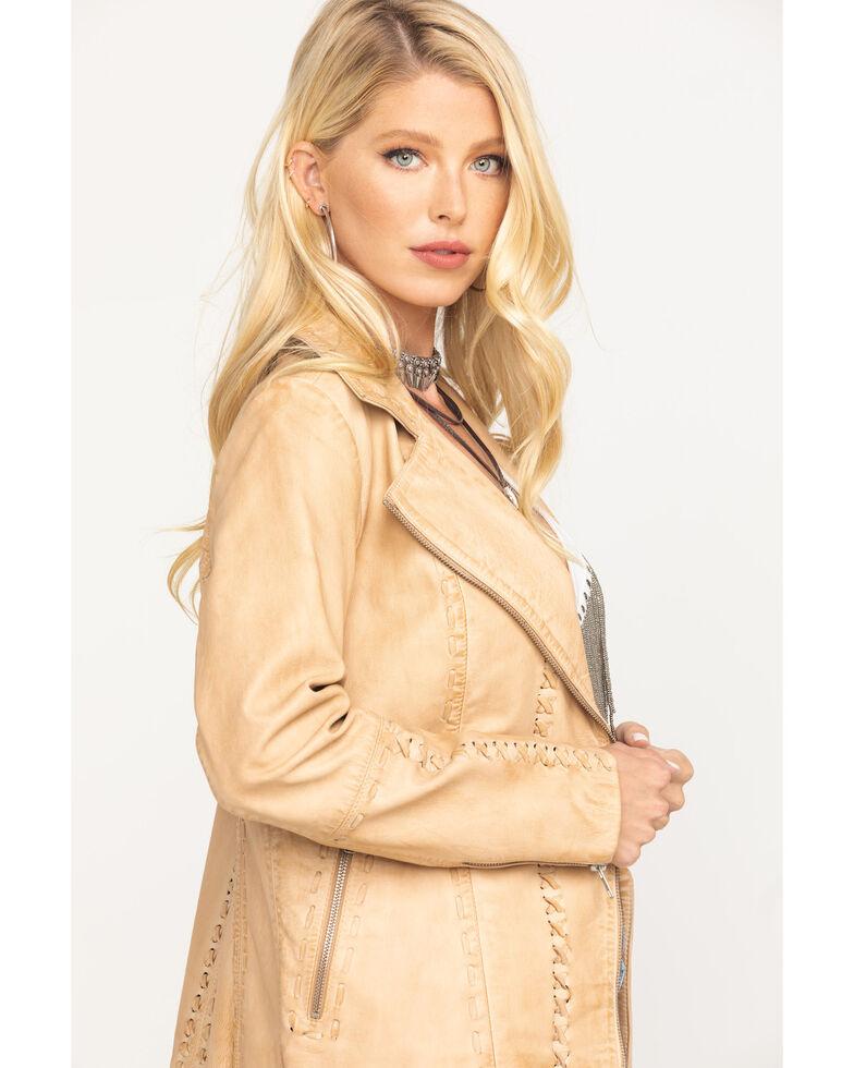 Idyllwind® Women's Southern Peach Moto Leather Jacket, Tan, hi-res