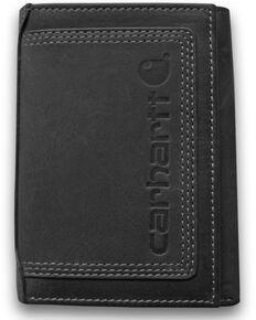 Carhartt Men's Detroit Trifold Wallet, Black, hi-res