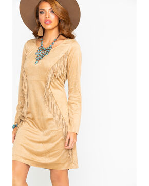 Ariat Women's Woodland Fringe Dress, Lt Brown, hi-res