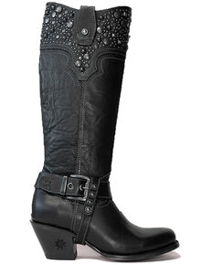 Black Star Women's Levelland Western Boots - Round Toe, Black, hi-res