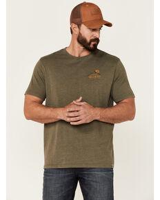 Flag & Anthem Men's Burnout Oilve Colorado Rockies Graphic Short Sleeve T-Shirt , Olive, hi-res