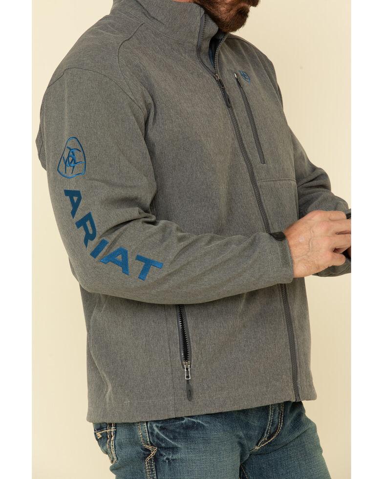 Ariat Men's Charcoal Logo 2.0 Softshell Jacket , Charcoal, hi-res