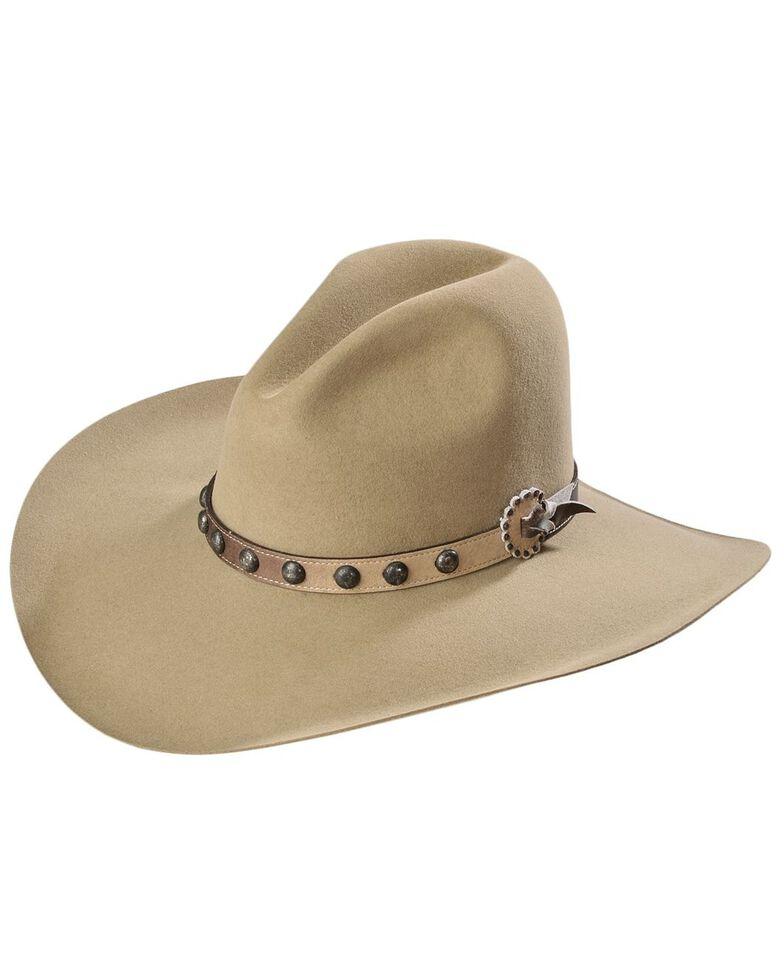 Stetson Men's 4X Broken Bow Buffalo Felt Cowboy Hat, Buck Tan, hi-res
