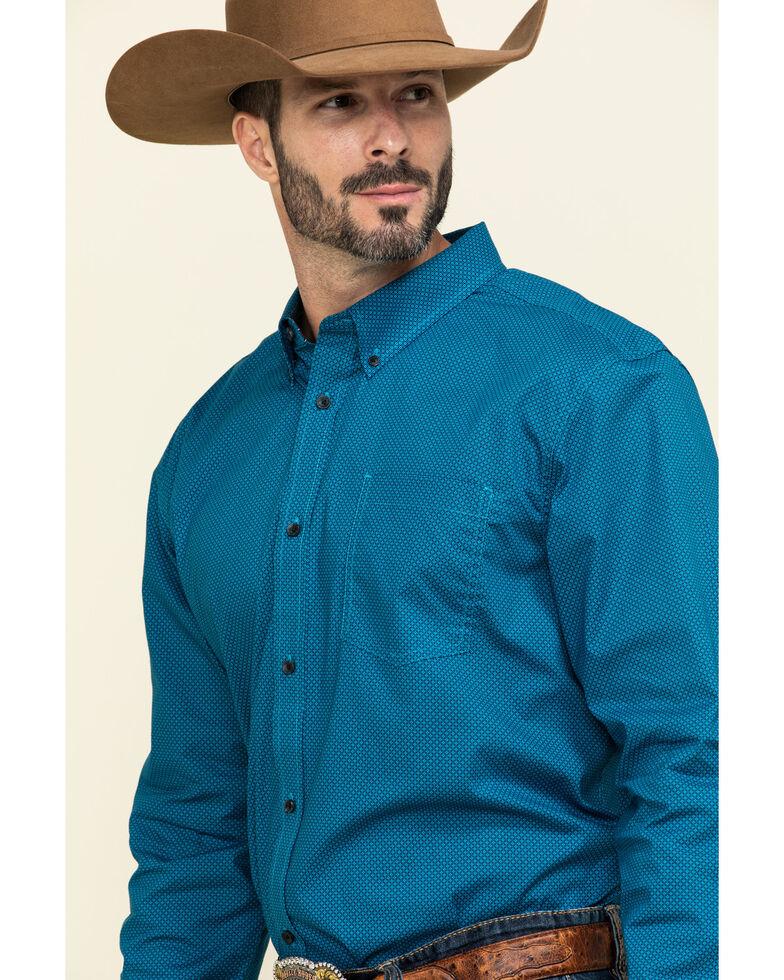 Cody James Core Men's Ringfield Micro Geo Print Long Sleeve Western Shirt - Tall , Black, hi-res