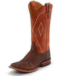 Tony Lama Men's Jasper Tangerine Western Boots - Square Toe, Brown, hi-res