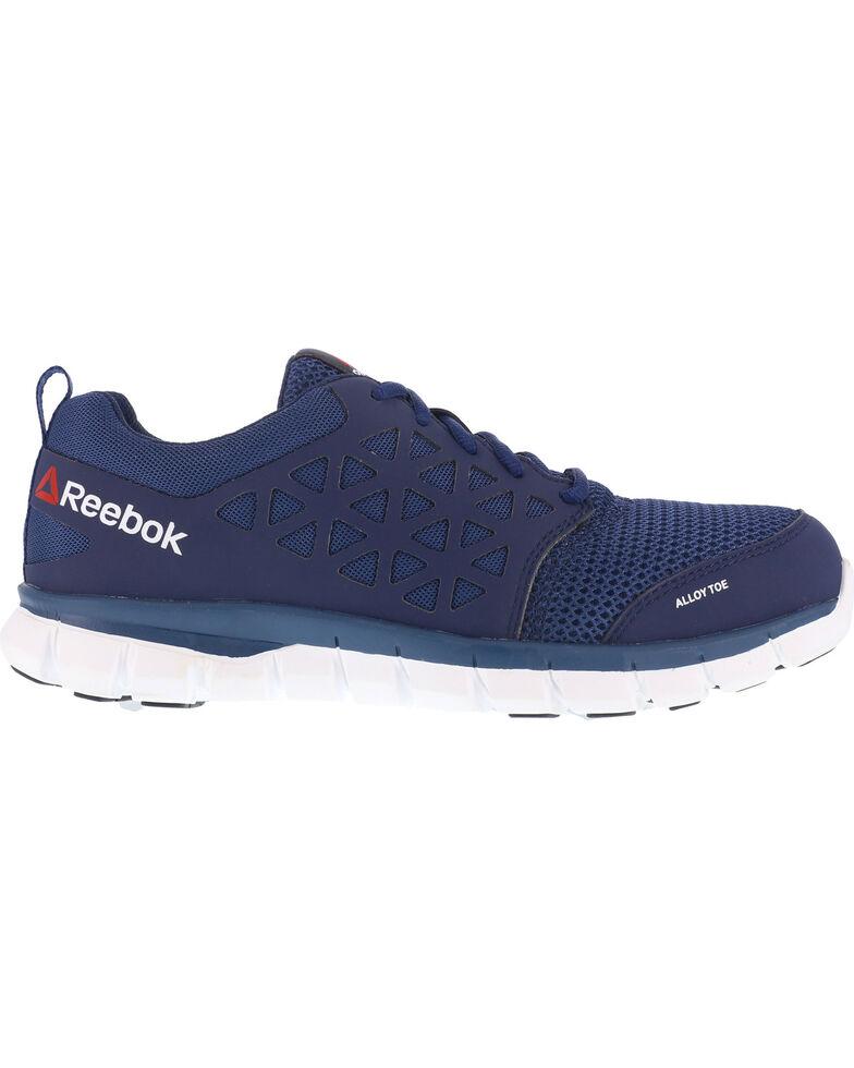 Reebok Men's Mesh Athletic Oxfords - Alloy Toe, Navy, hi-res
