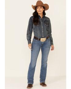 Wrangler Women's Willow Riding Bootcut Jeans, Blue, hi-res