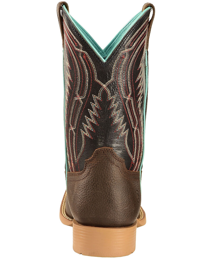 Ariat Youth Boys' Brown Chute Boss Boots - Wide Square Toe, Brown, hi-res