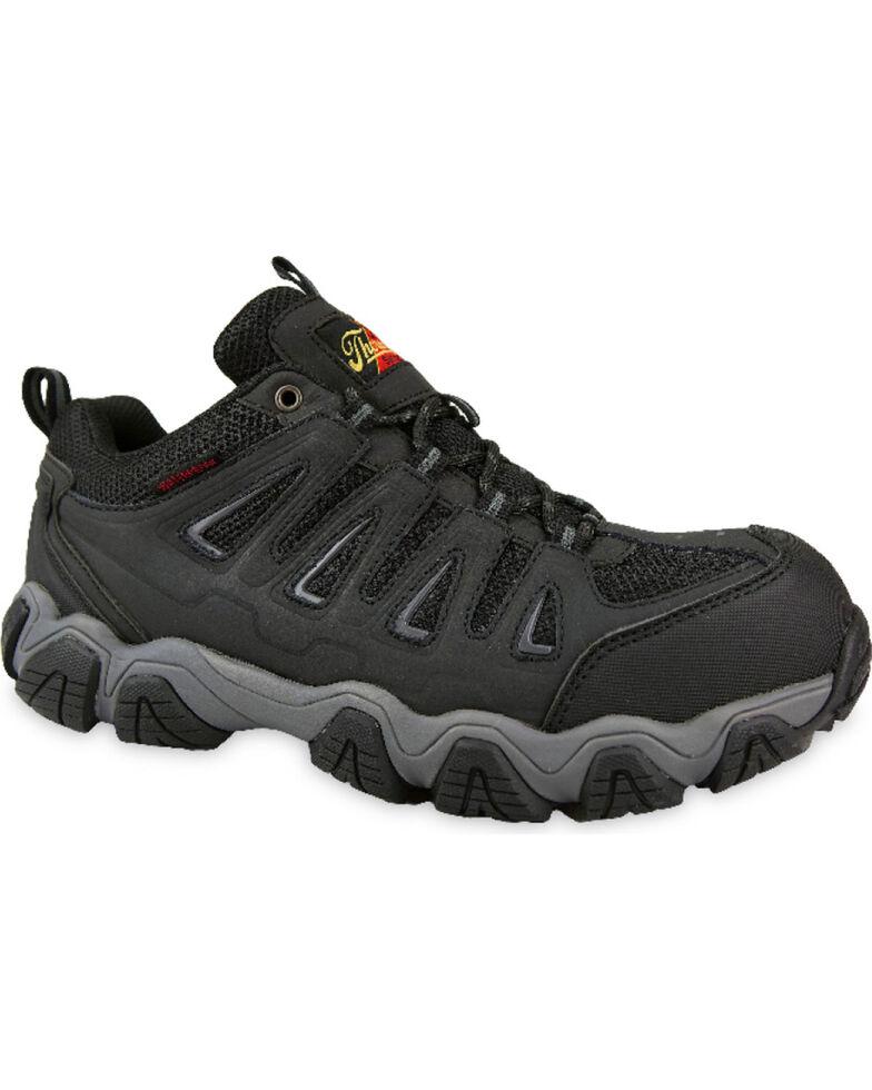 Thorogood Men's Waterproof Athletic Work Shoes - Composite Toe, Black, hi-res